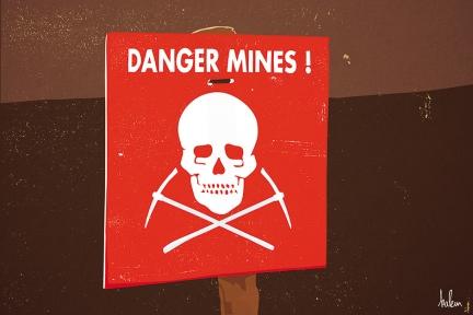 Danger, mines !